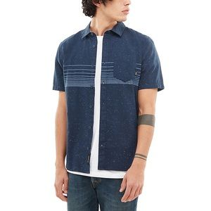 Vans  navy button up casual M